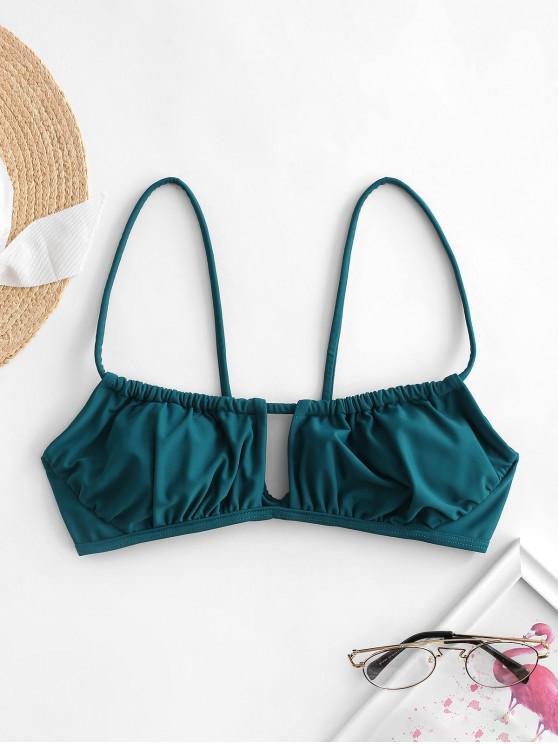 outfit ZAFUL Cutout Bikini Top - PEACOCK BLUE S
