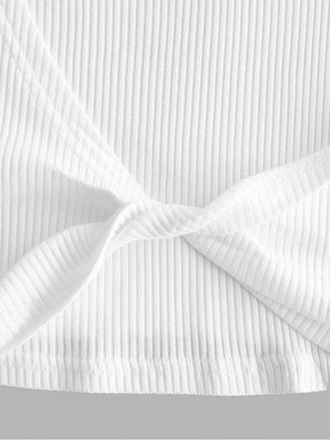Ensemble de Short Côtelé Tordu avec Poche - Blanc L Mobile
