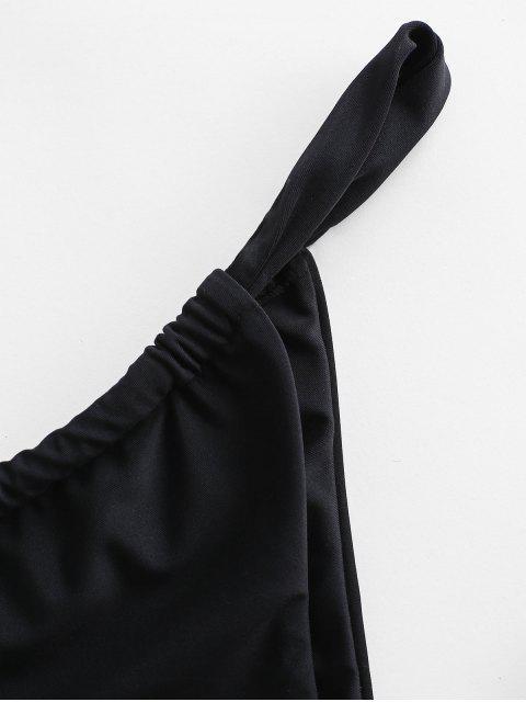 shops ZAFUL Low Waisted Bikini Bottom - BLACK S Mobile