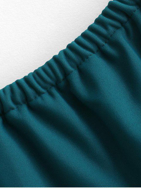 online ZAFUL Plaited Bikini Bottom - PEACOCK BLUE S Mobile