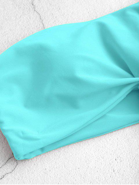 Bikini a Fascia con Orlo Annodato di ZAFUL - Celeste M Mobile