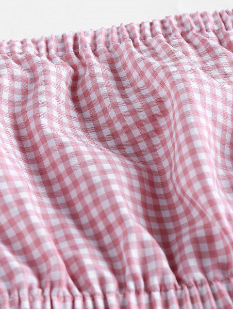 ZAFUL Top sem Alças Finas Cortado - Rosa de Porco M Mobile
