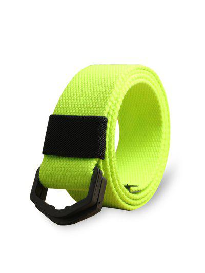 Sport Style Canvas Buckle Tape Belt - Green Yellow
