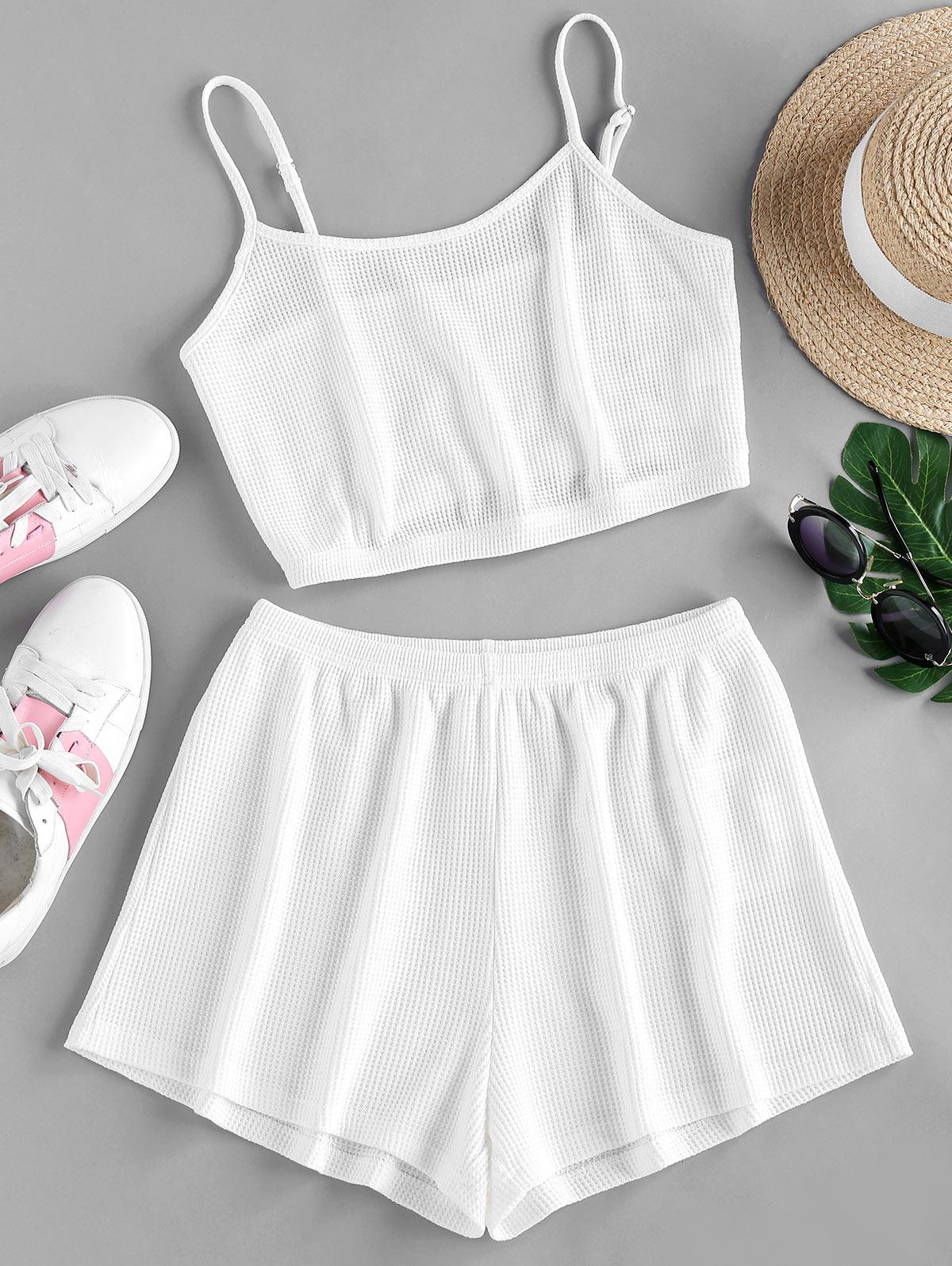 ZAFUL Textured Knit Co Ord Set