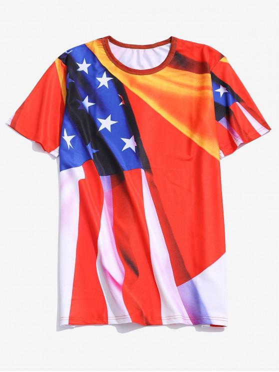 Steaua Imprimare mâneci scurte T-shirt - roșu XL