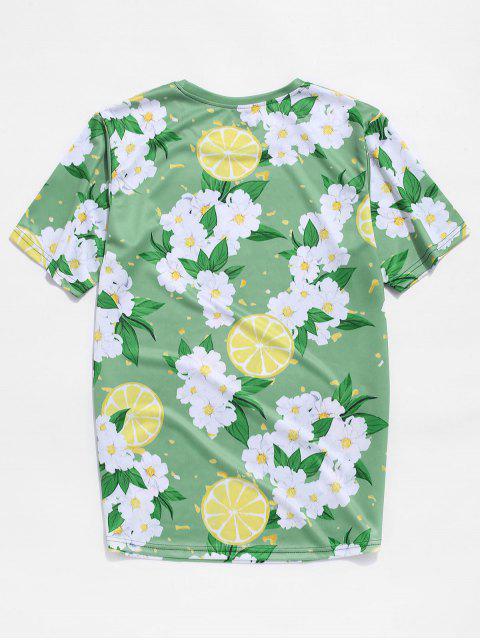 T-shirt de Férias Estampado de Férias - Verde de Cebola  3XL Mobile