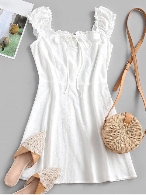 ZAFUL Gerüschtes A-Linie Kleid - Weiß XL Mobile