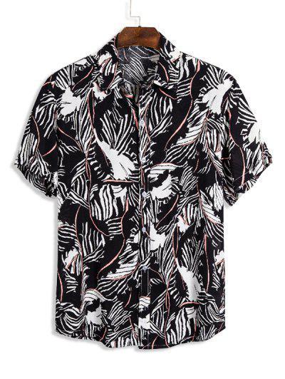 Abstract Striped Short Sleeve Shirt