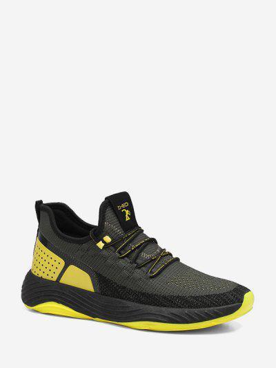 Color-blocking Mesh Outdoor Running Sneakers - Green Eu 41