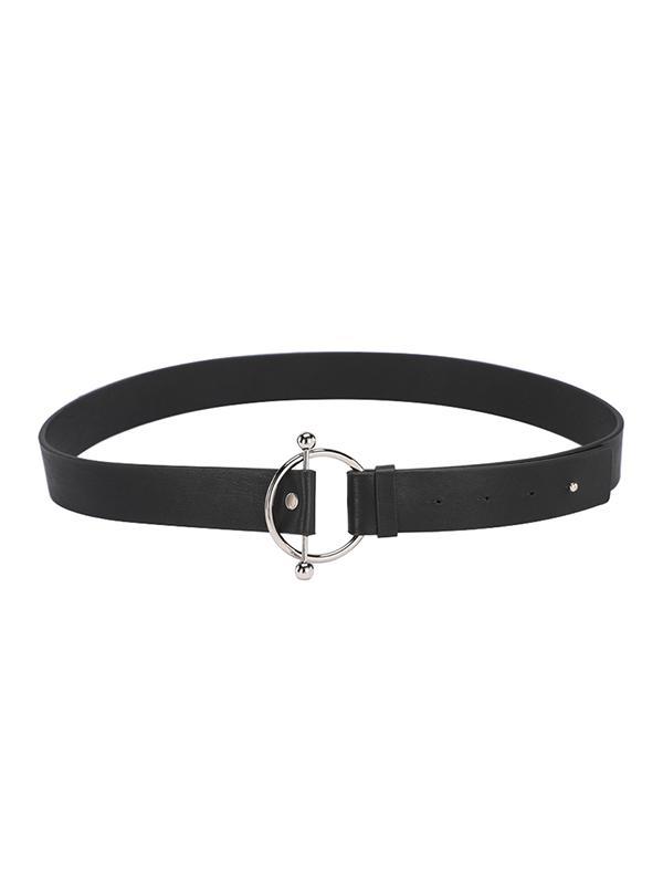 O-ring Buckle PU Leather Waist Belt
