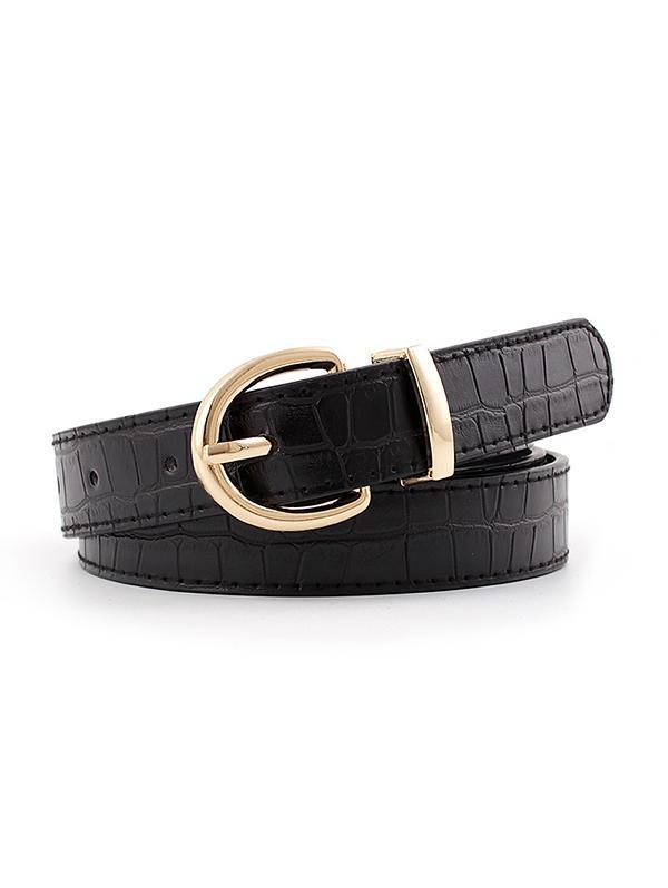 Pin Buckle Animal Pattern Waist Belt