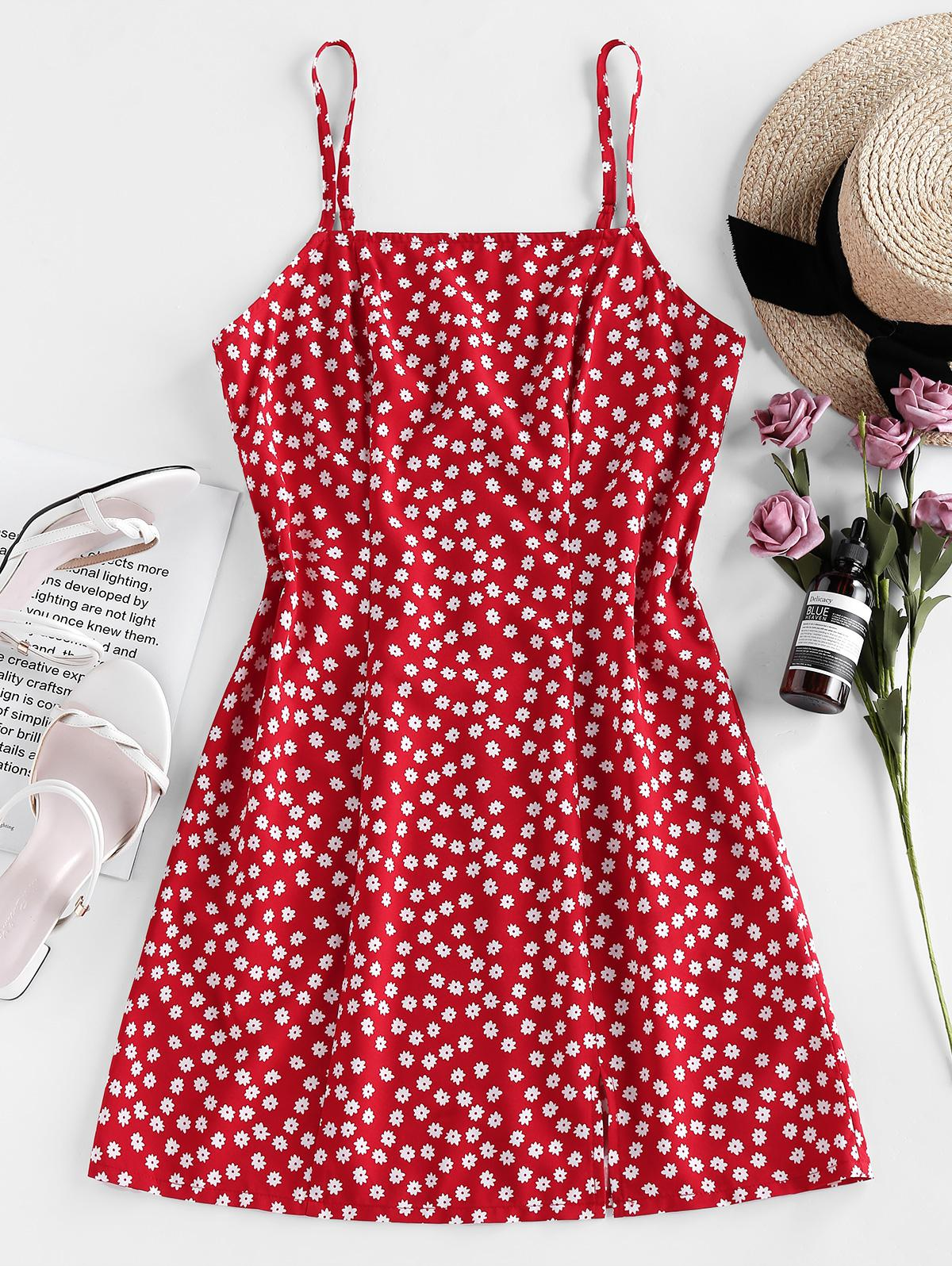 ZAFUL Ditsy Floral Cami Summer Dress