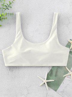 ZAFUL Gepolstertes Tank Bikini-Top Mit U Ausschnitt - Weiß S