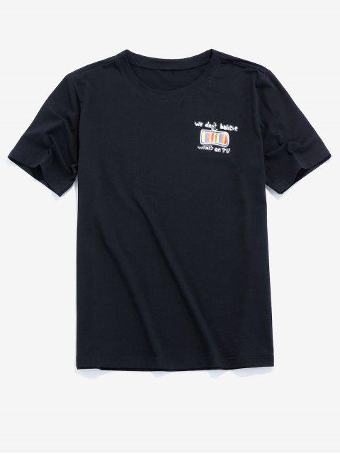 new ZAFUL TV Graphic Print Casual T-shirt - BLACK 2XL Mobile