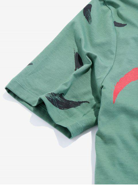 T-shirt Básica do Gráfico da Pintura - Verde de Trevo XS Mobile