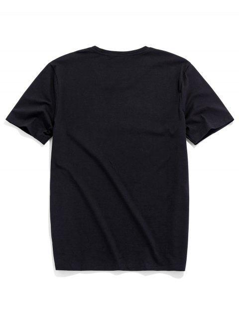 Camiseta Básica con Manga Raglán - Negro L Mobile