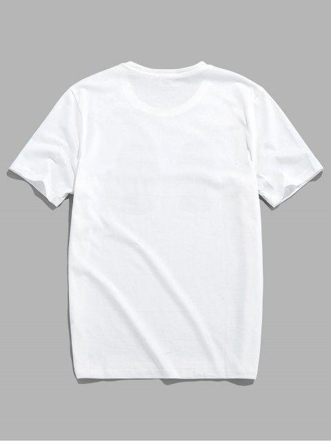 Camiseta Básica con Manga Raglán - Blanco S Mobile