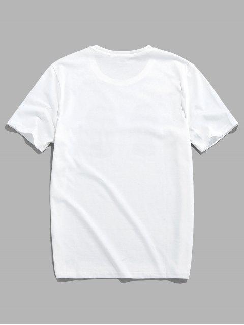 Camiseta Básica con Manga Raglán - Blanco M Mobile