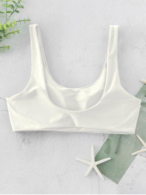 ZAFUL Haut de Bikini Débardeur Rembourré à Col Dégagé - Blanc L Mobile
