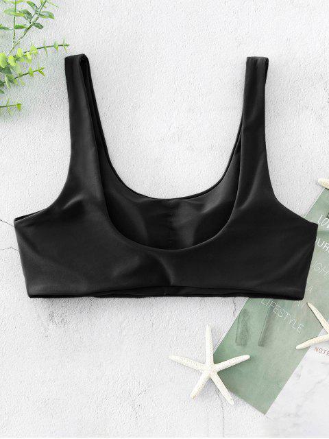 ZAFUL Bikini Acolchado Top con Cuello Redondo - Negro M Mobile