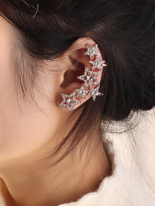 Full Rhinestone Star Ear Cuff Earring thumbnail