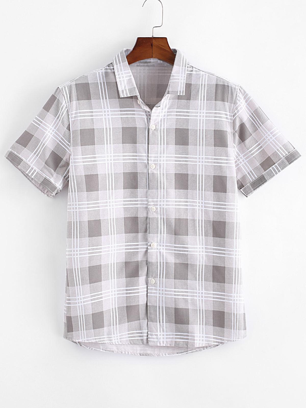 Plaid Print Casual Button Up Shirt thumbnail