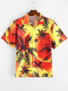 Palm Tree Print Vacation Shirt - Multi-a L