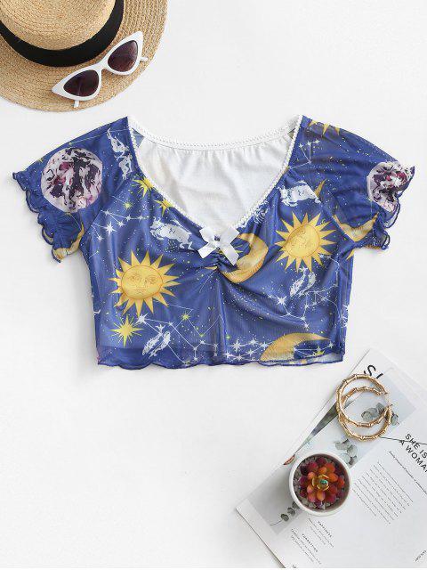 T-shirt Chiné Soleil et Galaxie Design - Multi-A XL Mobile