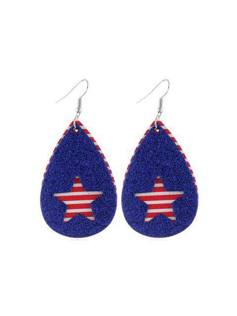 shops Star Flag Pattern Glitter Earrings - MULTI-D  Mobile