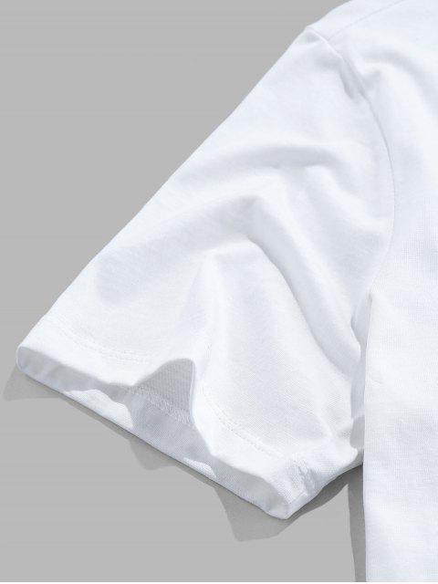 Camiseta Básica con Estampado de Pintura de Dreamy - Blanco S Mobile