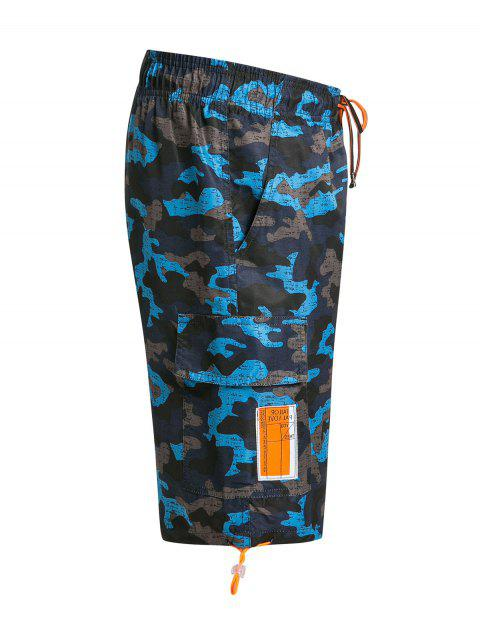 Short de Bain Camouflage avec Poches à Rabat - Cendre gris 3XL Mobile