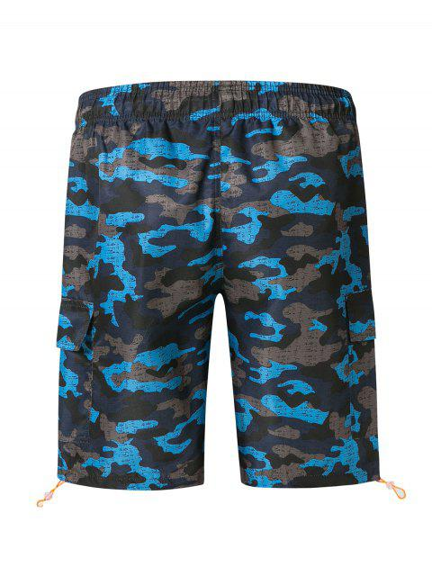 Short de Bain Camouflage avec Poches à Rabat - Cendre gris 2XL Mobile