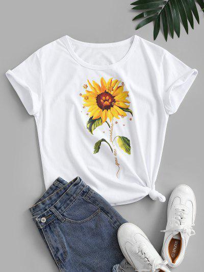 3D Sunflower Print Tee