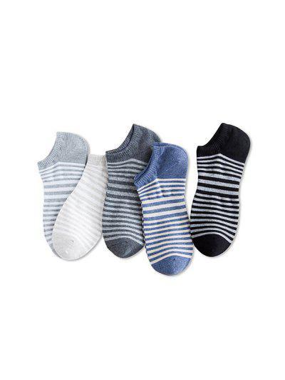 5Pairs Stripe Cotton Socks Set