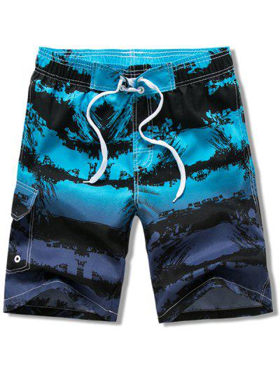 Ombre Paint Printed Board Shorts - Multi-b 3xl