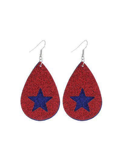Stern Flaggenmuster Glitter Ohrringe - Multi-b