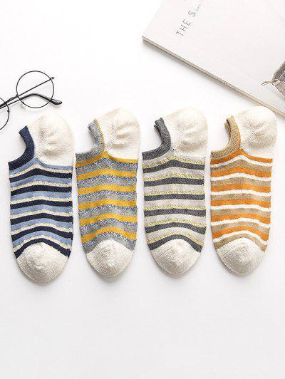 4Pairs Striped Socks Set