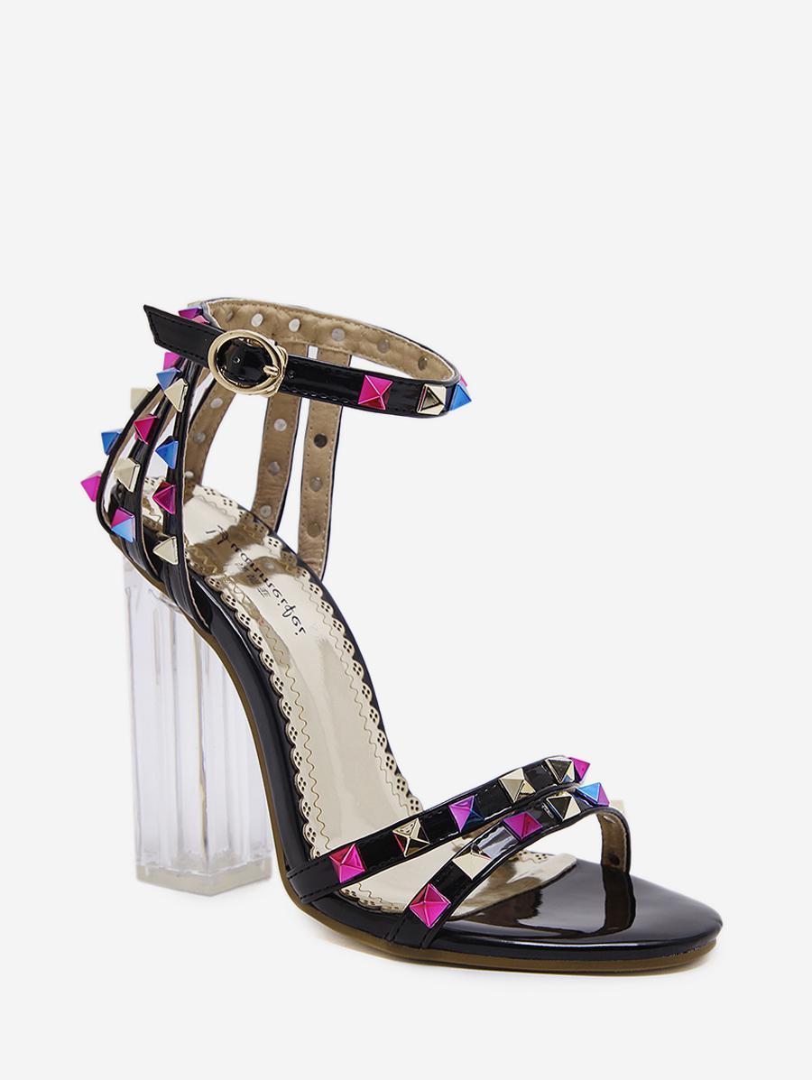 Rivet High-heel Open Toe Sandals