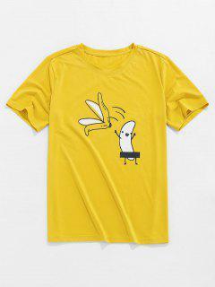 ZAFUL Cartoon Banana Basic T-shirt - Yellow M