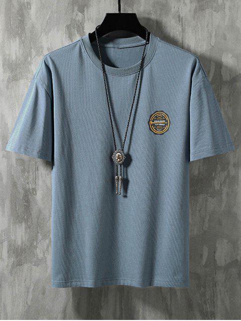 Camiseta de Básico - Azul de Névoa 3XL Mobile
