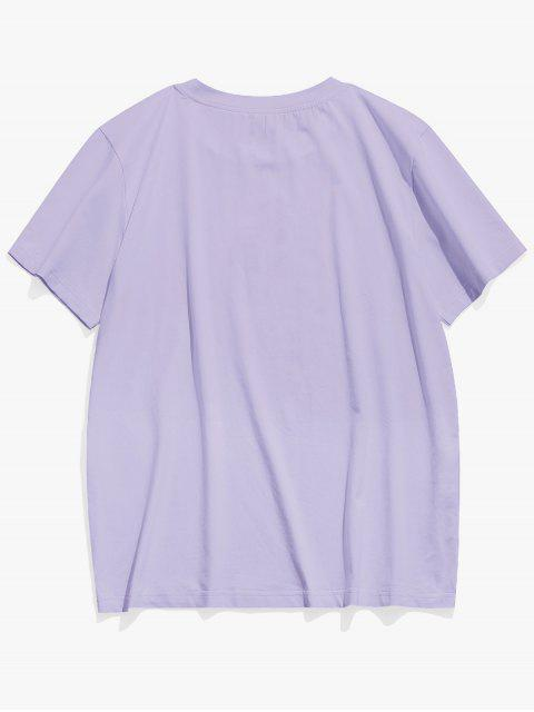 Vindo colhida camiseta sexta-feira  's - Cor de Malva L Mobile