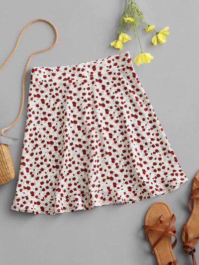 Mini Falda con Volantes de Flores