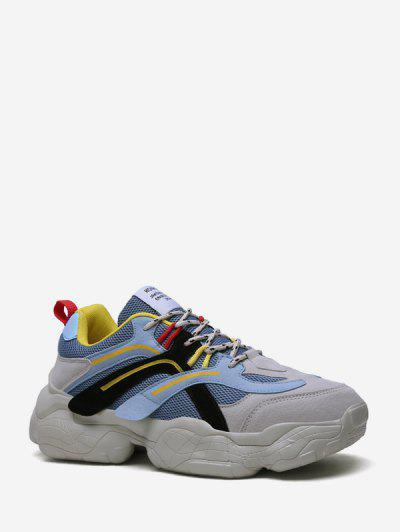 Mix Material Dad Sneakers