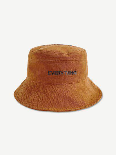 Embroidery Letters Bucket Hat