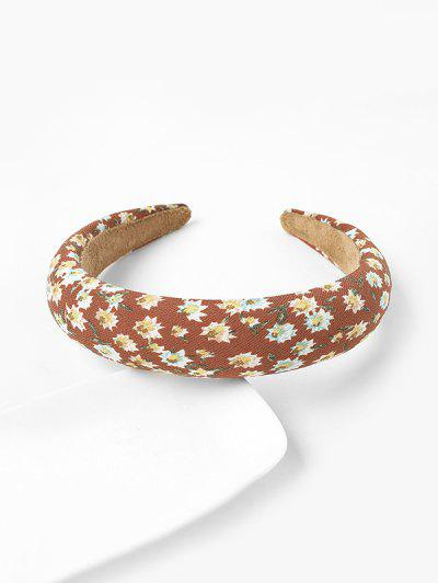 Flower Print Wide Hairband