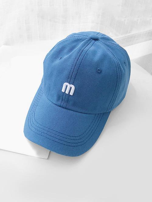 M Letter Pattern Baseball Cap
