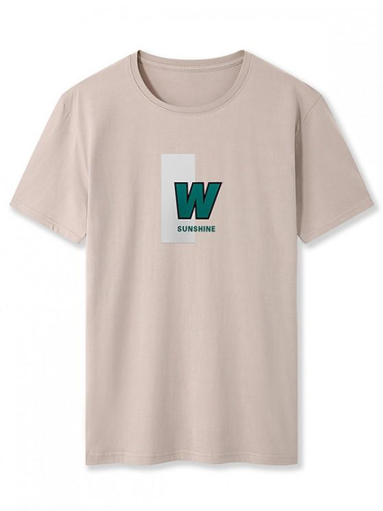 W Sunshine Graphic Basic T-shirt - كاكي XL