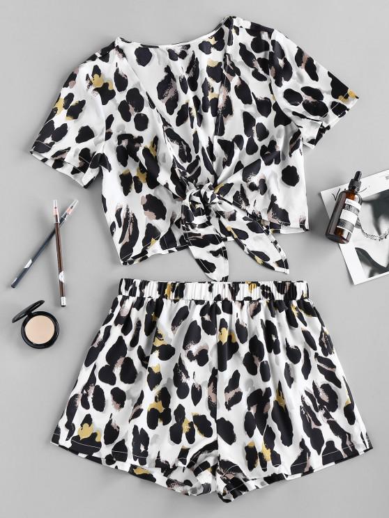 ZAFUL Conjunto de Shorts de Hundido de Leopardo - Multicolor-A S