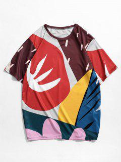 Colorful Graphic Short Sleeve T-shirt - Multi-b 2xl