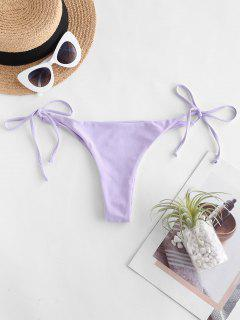 ZAFUL Cheeky Tie Side Bikini Bottom - Lavender Blue S